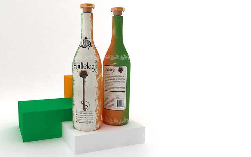 3D Modeling – Shillelagh – Bottle With Label
